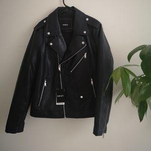 NWT DKNY Pleather Moto Jacket